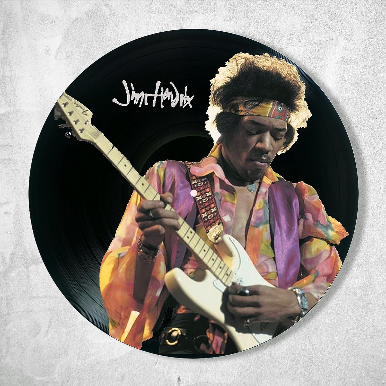 Jimi Hendrix Vinyl Decor, Wall Decor Vinyl Painted Jimi Hendrix, Original Gifts for Music Lovers, Original Gift for Home Decor
