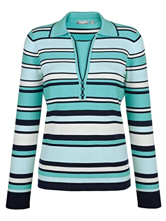 Rabe Damen Pullover Marineblau: : Bekleidung