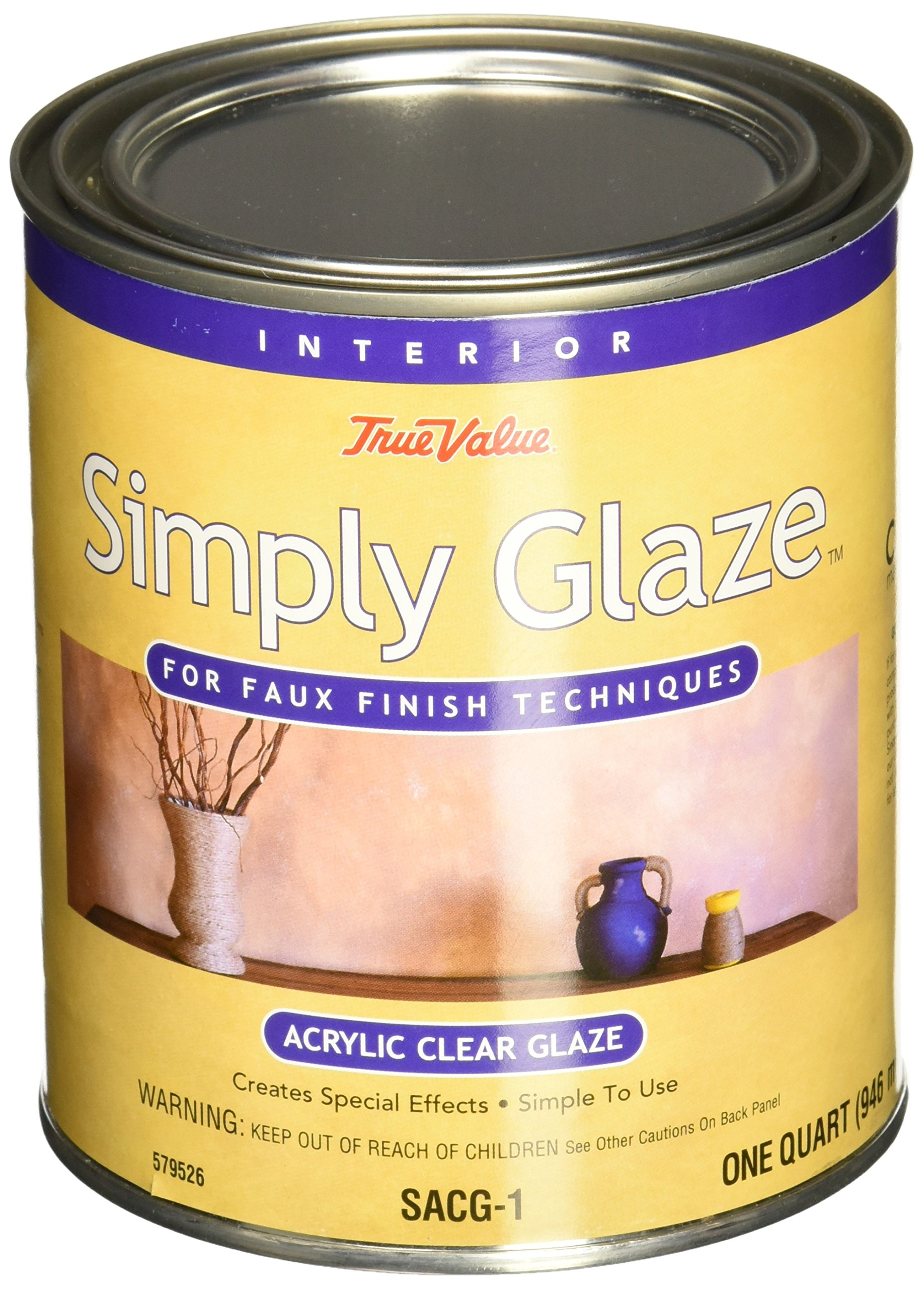 True Value SACG1-QT Simply Glaze Acrylic Clear Glaze for Faux Finishing by True Value