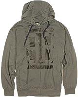 Sean John Mens Big & Tall 98-Print Fleece Zip Up Hoodie Sweatshirt, Charcoal Heather Gray (4X Big)