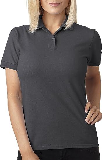 Amazon.com  Gildan womens 6.5 oz. DryBlend Pique Sport Shirt (G948L ... 250ce9ef76