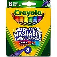 Crayola Ultra schoon grote wasbare kleurpotloden, schoolbenodigdheden, 8 Count