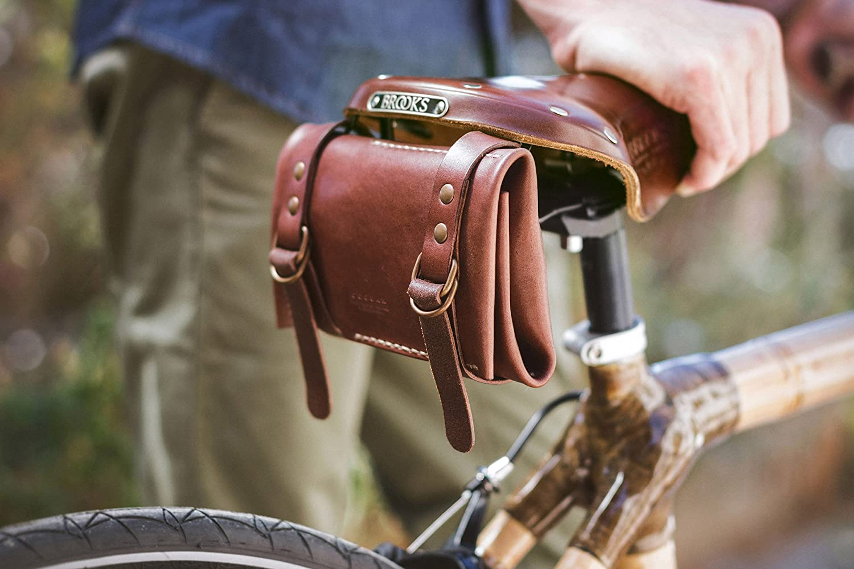 Portaherramientas de cuero para bicicleta: Amazon.es: Handmade