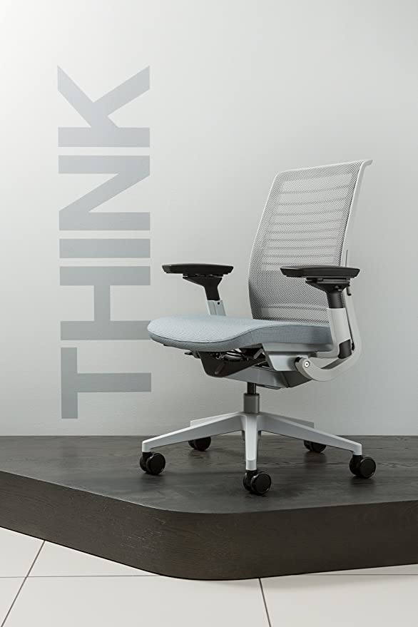 Steelcase 3D Knit Think Chair, Nickel