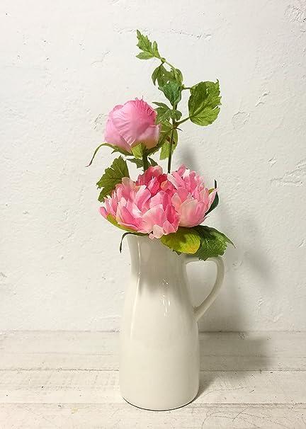 Jolie Maison Pivoine Arrangement floral avec carafe en ...