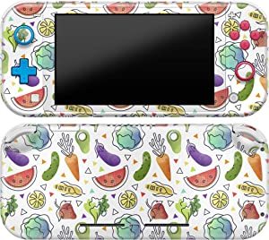 Cavka Vinyl Decal Skin Compatible with Console Switch Lite (2019) Stickers with Design Watercolor Fruits Wrap Durable Cover Vegetebles Full Set Protector Faceplate Vegan Food Print Protection Fresh