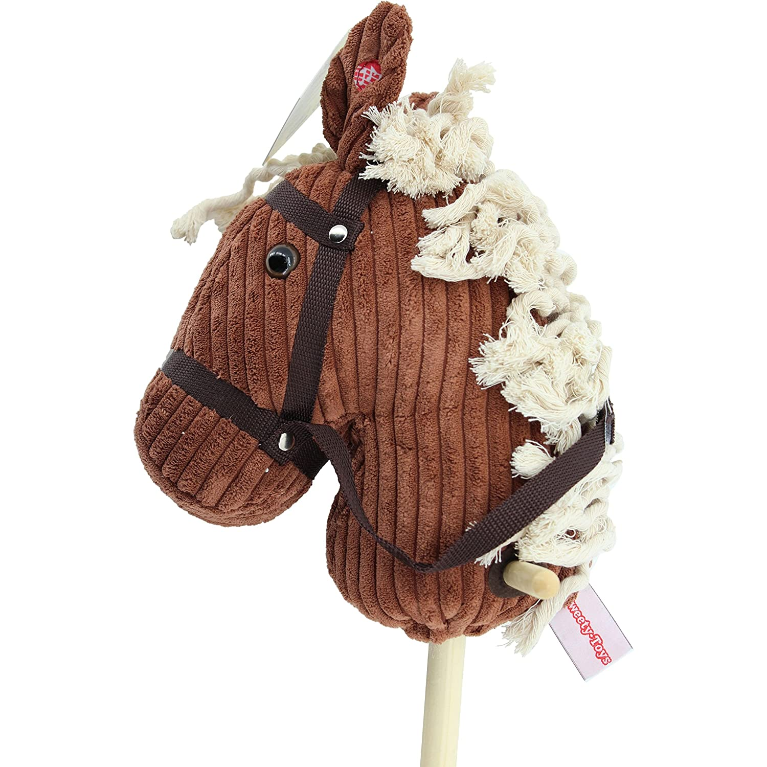 Sweety-Toys 6762 BROWN Sugar CORD COTTON Têtes de cheval à chevaucher Sweety Toys