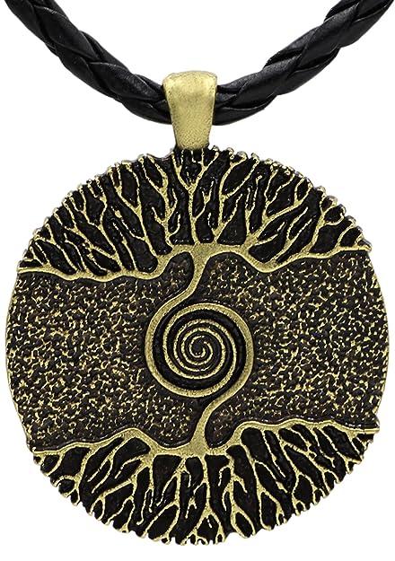 Wikinger Mittelalter Baum Des Lebens Anhänger Halskette Antik Bronze