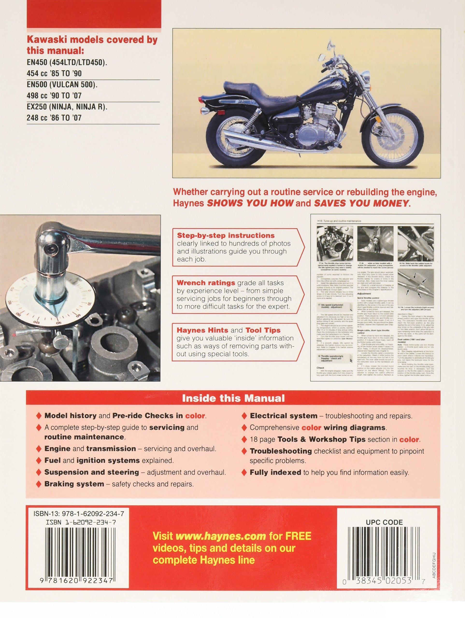Kawasaki En450 And 500 Owners Workshop Manual Haynes Wiring Diagram Manuals Alan Harold Ahlstrand J H 9781563925504 Books