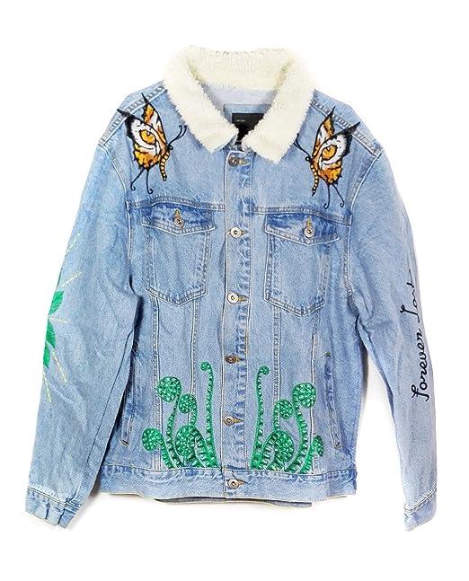 Zara Men Embroidered Denim Jacket 3442 320 X Large Amazon Ca
