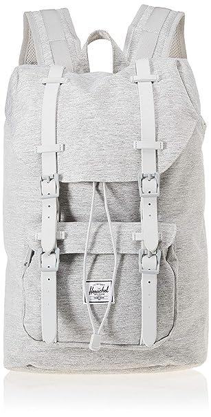 37026fc165d Herschel Little America Mid-Volume Backpack Light Crosshatch Grey Rubber