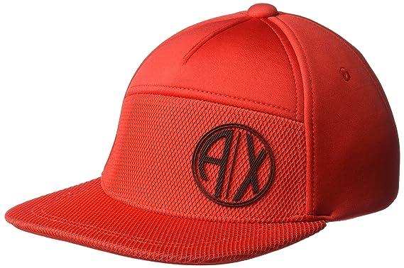 07f107e906b Amazon.com  Armani Exchange Men s Circular Logo Cap
