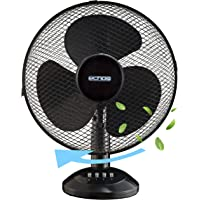 Tischventilator Ø30 cm 40 Watt | Ventilator | Rotation zuschaltbar | oszillierend | leiser Betrieb | Windmaschine | Luftkühler | geeignet für Schlafzimmer, Büro, Wohnzimmer |