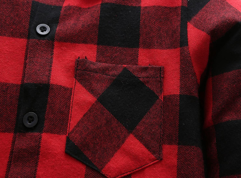 Grandwish Kids Long Sleeve Plaid Flannel Shirt 2T-12