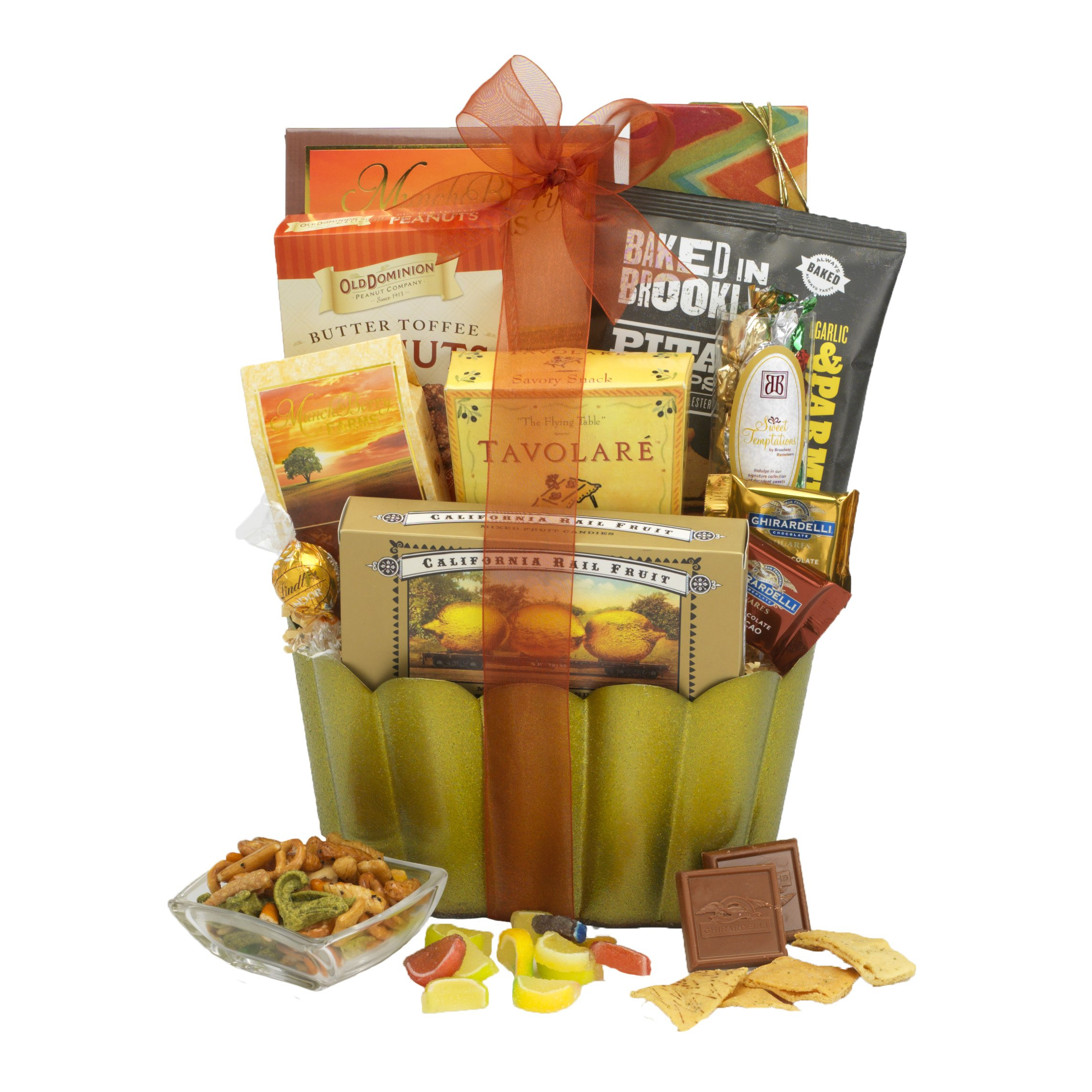 Broadway Basketeers Gourmet Sweets, Nuts & Snacks gift Basket.  A Great Gift Basket To Give or Receive by Broadway Basketeers