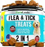 FurroLandia Chewable Flea & Tick Treats for Dogs - Natural Flea and Tick Supplement for Dogs - No Chemicals | No Mess…