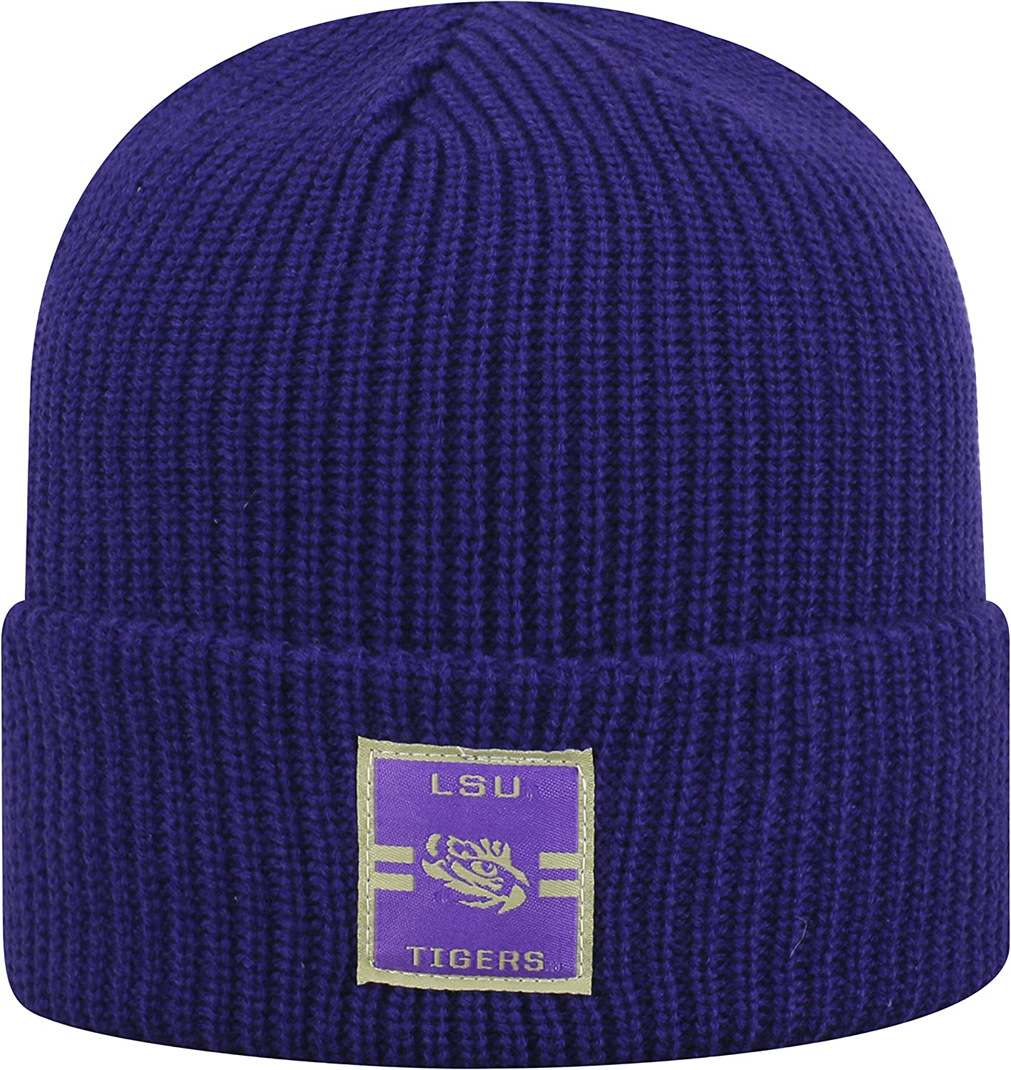 Top of the World LSU Tigers Official NCAA Cuffed Knit Incline Stocking Stretch Sock Hat Cap Beanie 483672