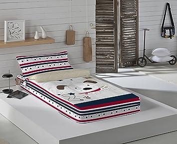 NATURALS Euromoda Saco Nórdico con Relleno Love Dog Cama 90 (90 x 190/200 cm): Amazon.es: Hogar