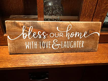 Amazon Com Bless Our Home With Love And Laughter Wooden