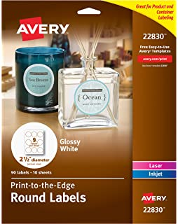 Amazon avery self adhesive removable labels 1 x 15 inches avery round labels glossy white 25 inch size 135 labels great saigontimesfo
