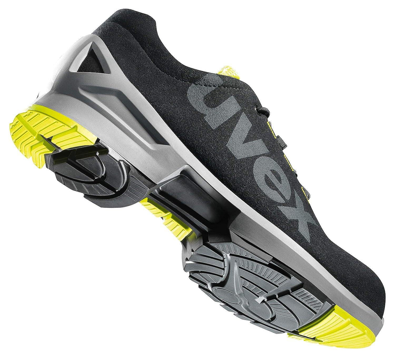 Punta Antiaplastamiento de Composite Negro Uvex 1 Zapato Profesional de Seguridad S2 SRC Zapatilla Deportiva de Trabajo