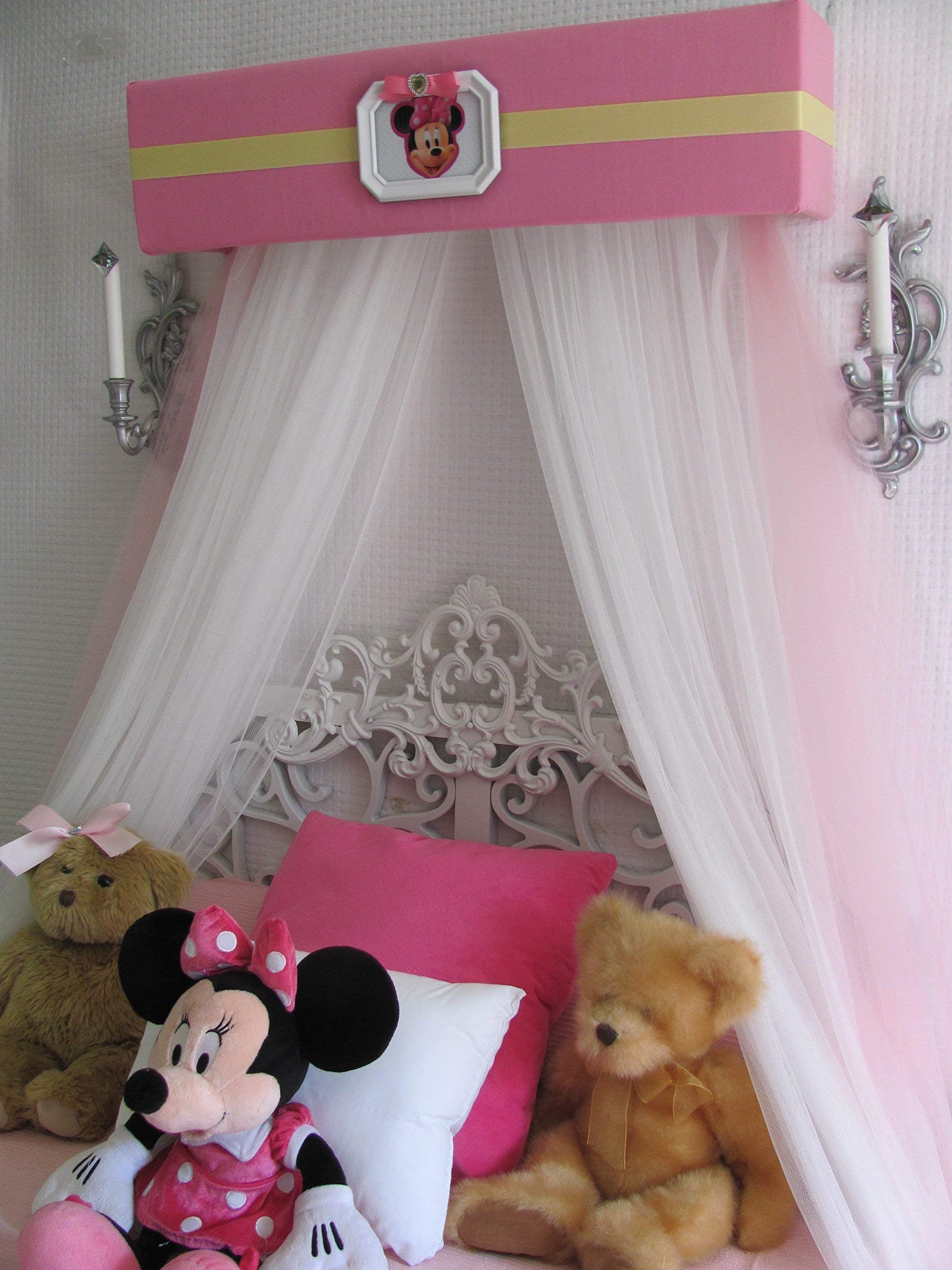 Disney Minnie Mouse Crib canopy cornice BED teester FULL Twin 30 inch Pink nursery So Zoey Boutique by So Zoey Boutique (Image #3)