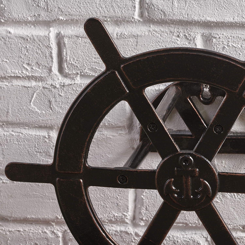Chole Outdoor Shiny Copper Aluminum Ship Wheel Hose Holder