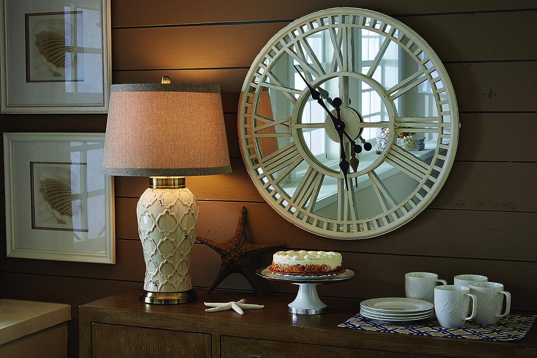 4300-265 Park Designs Mirror Clock Cream Scout Limited Inc