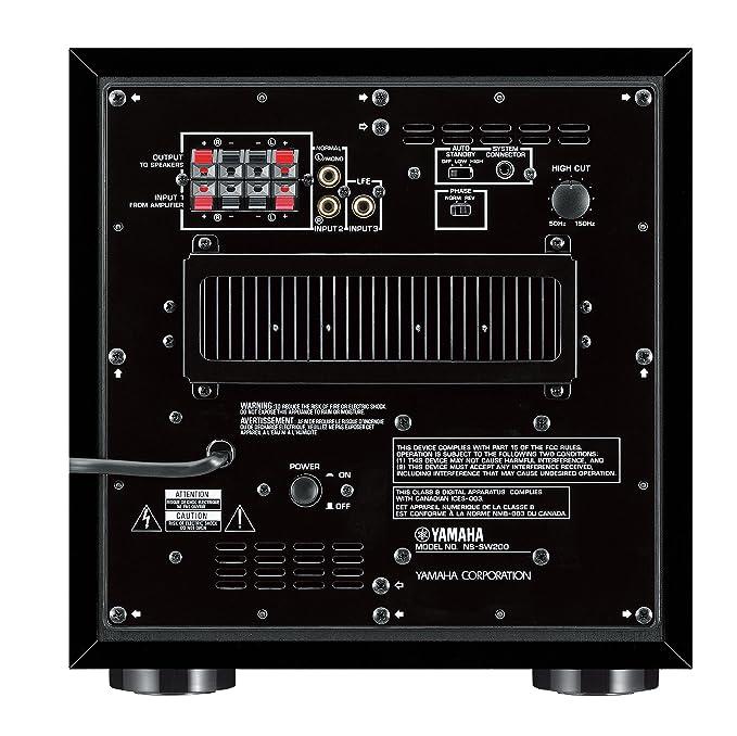 Yamaha NS-SW200 - Subwoofer (tecnología Front-Fire, caja de bajos Twisted Flare Port): Amazon.es: Electrónica
