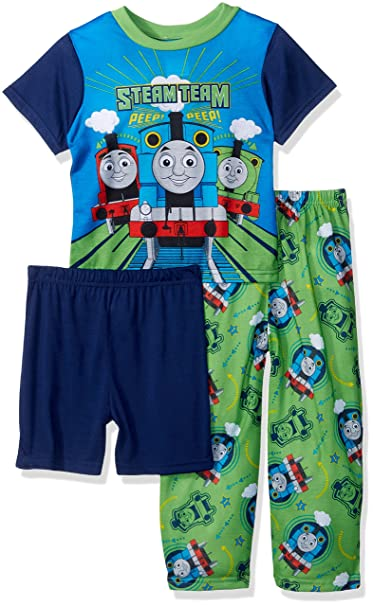 93e46f4b0 Amazon.com  Thomas the Train Toddler Boys  3-Piece Pajama Set
