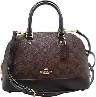 9d89eba9adb5 Coach Signature Debossed Patent Mini Sierra Satchel Handbag Womens ...