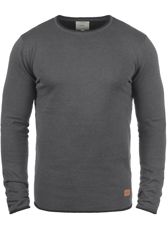 TALLA 52. Redefined Rebel Maison Jersey De Punto Suéter para Hombre con Cuello Redondo De 100% Algodón