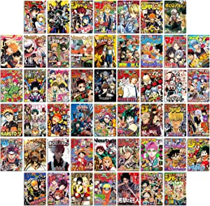 Anime Room Decor, Anime Wall Collage, Anime Poster, Anime Posters, Anime Decor, Anime Wall Decor, Anime Manga, My Hero Academia Posters, Anime Poster Pack, Manga Wall, Boys Room Decor 50PCS 4X6 INCH