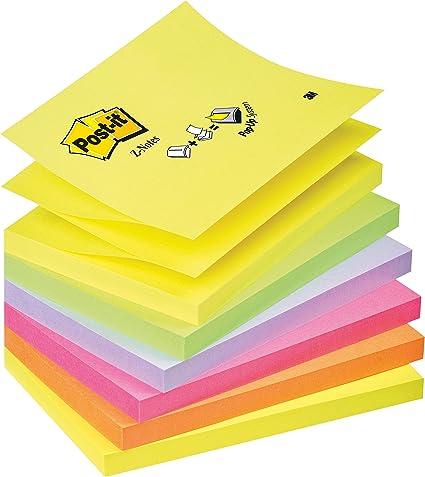 Post-It R350-NR - Pack de 6 blocs de notas, 76 x 127 mm, color ...