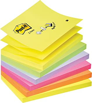 76 x 76 mm Post-it Haftnotizen Z-Notes 6-farbig