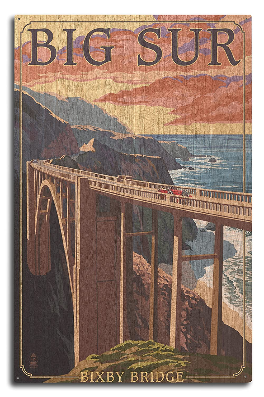 Bixby Bridge – California Coast 10 x 15 Wood Sign LANT-32750-10x15W 10 x 15 Wood Sign  B07367N2QX