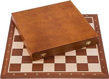 Square - Profesional Ajedrez de Madera Nº 6 - Caoba Lux - Tablero ...