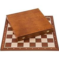 Square - Pro Set de Jeu d'échecs no 6 - Acajou Lux - Échiquier + Pièces d'échecs - Staunton 6
