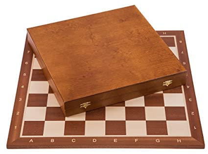 Square - Profesional Ajedrez de Madera Nº 6 - Caoba Lux - Tablero de ajedrez +