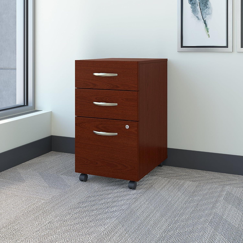 Bush Business Furniture Series C 3 Drawer Mobile Pedestal in Mahogany