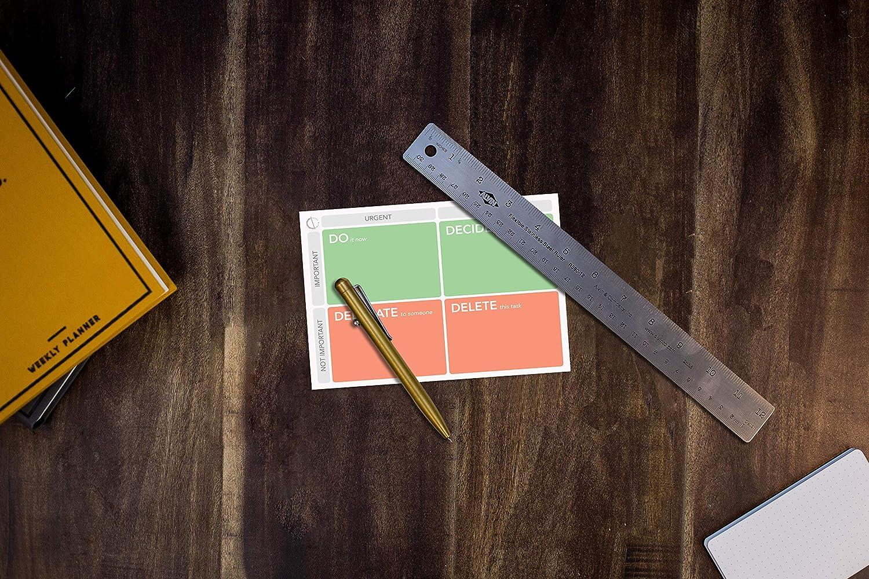8 x 6 pouces By Daily Rimto Bloc-notes du planificateur quotidien: liste des choses /à faire par priorit/é priorit/és cat/égoris/ées 50 pages grandes notes autocollantes