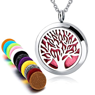 4f0f9d92b798 Long Way Aromatherapy Essential Oil Diffuser Necklace With 317L Stainless  Steel Pendant Jewelry Gift Set