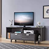 """ICE ARMOR ID99192639 60"""" W TV Stand with 2 Drawers and 2 Open Shelves in Distressed Grey Finish"""