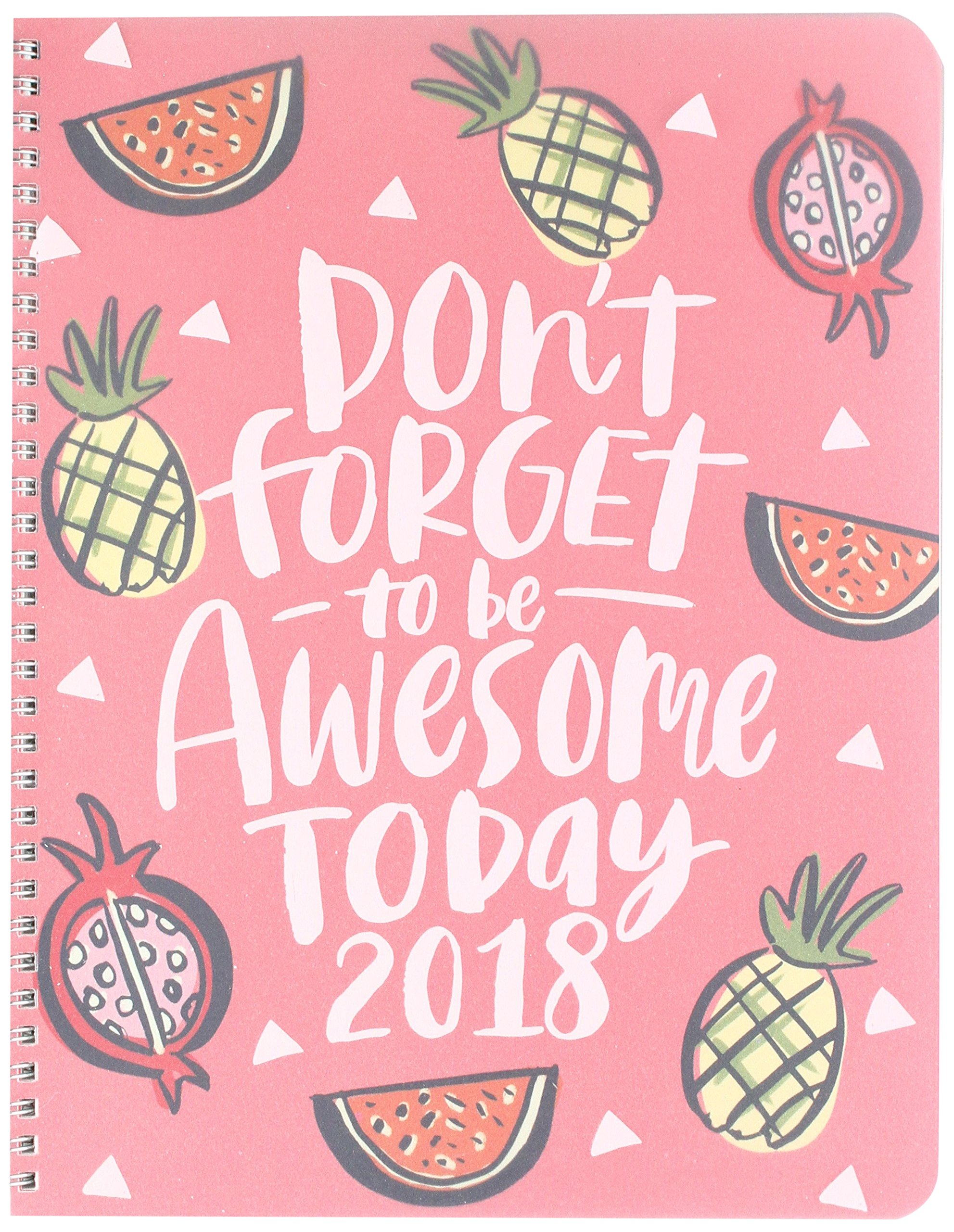Download Orange Circle Studio 17-Month 2018 Extra Large Flexi Planner, Be Awesome Today PDF