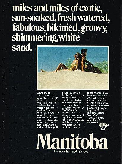 Amazon com: Manitoba Vacation - Vintage Magazine Ad - year