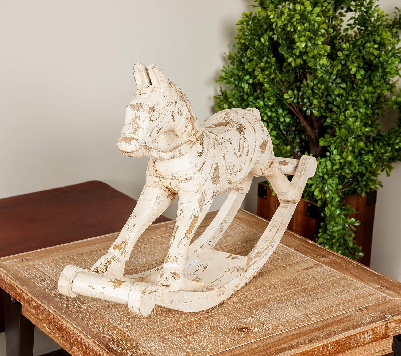 Amazon.com: Deco 79 29428 - Figura de caballo tallado de ...