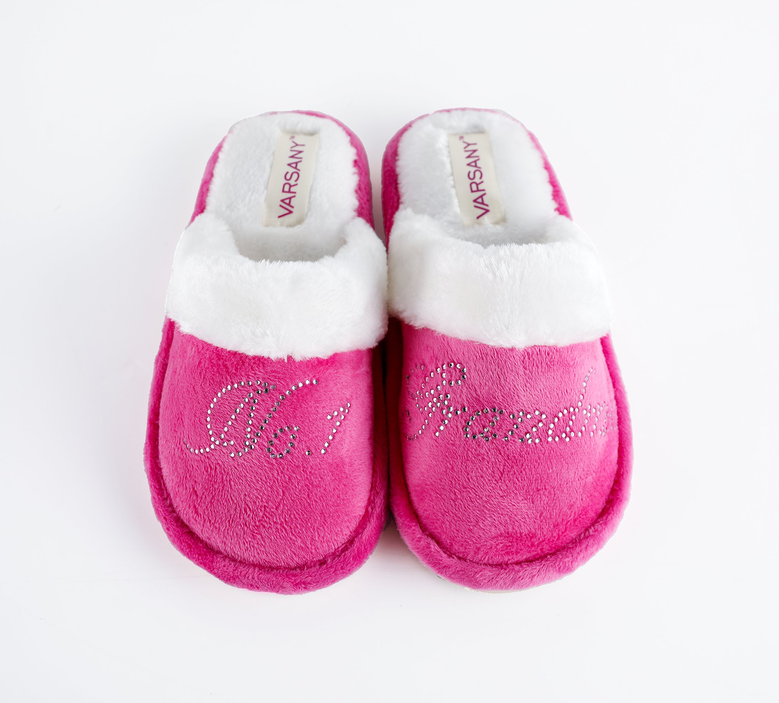 Varsany Pink Crystal No.1 Grandma Best House slippers personalised Rhinestone home slippers gift