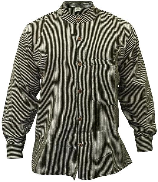 Shopoholic Fashion - Camisa para hombre con cuello mao 8ee10259aac
