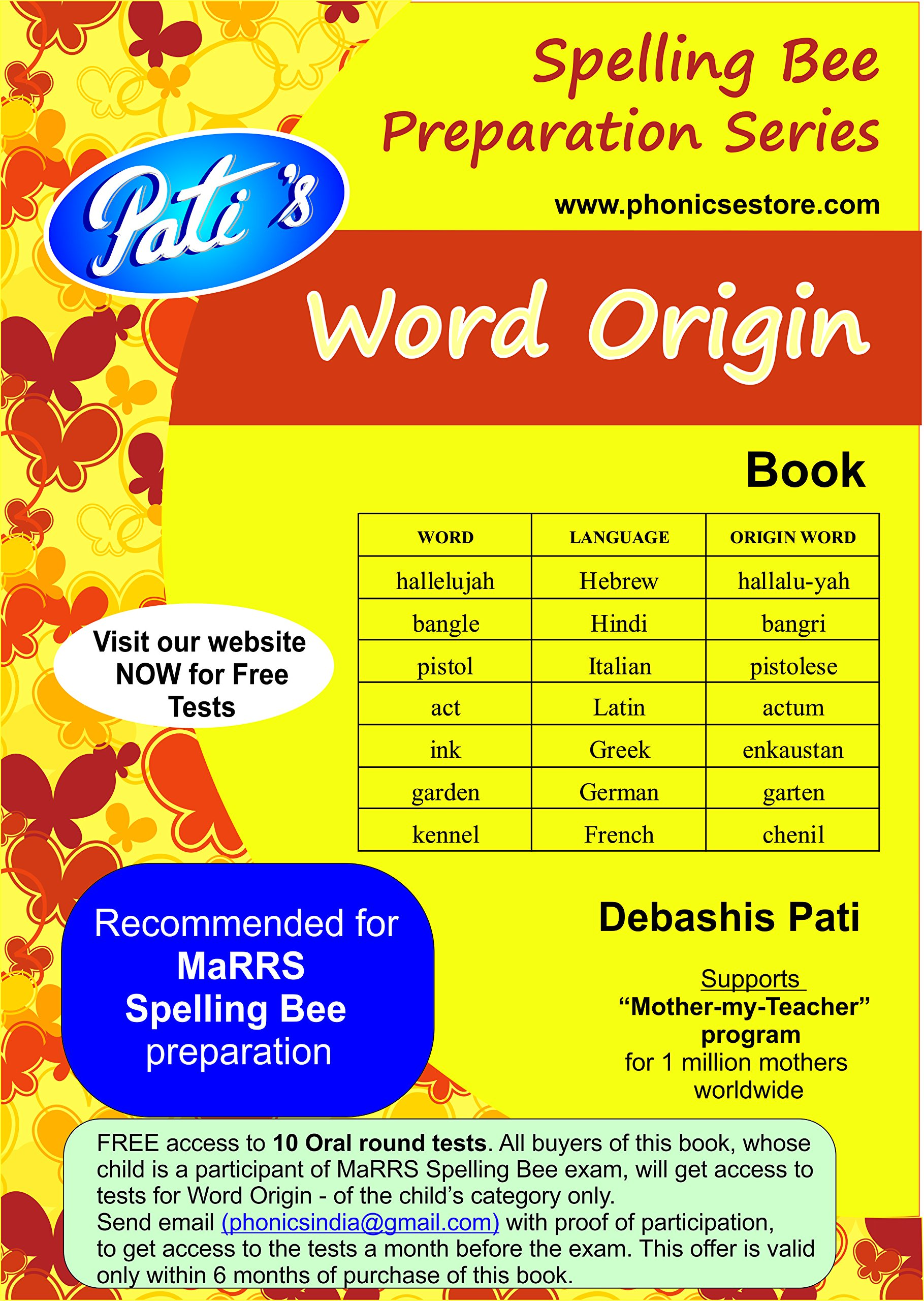 Amazonin Buy Word Origin Book Prepare for Marrs Spelling Bee – Origin of the Word Free