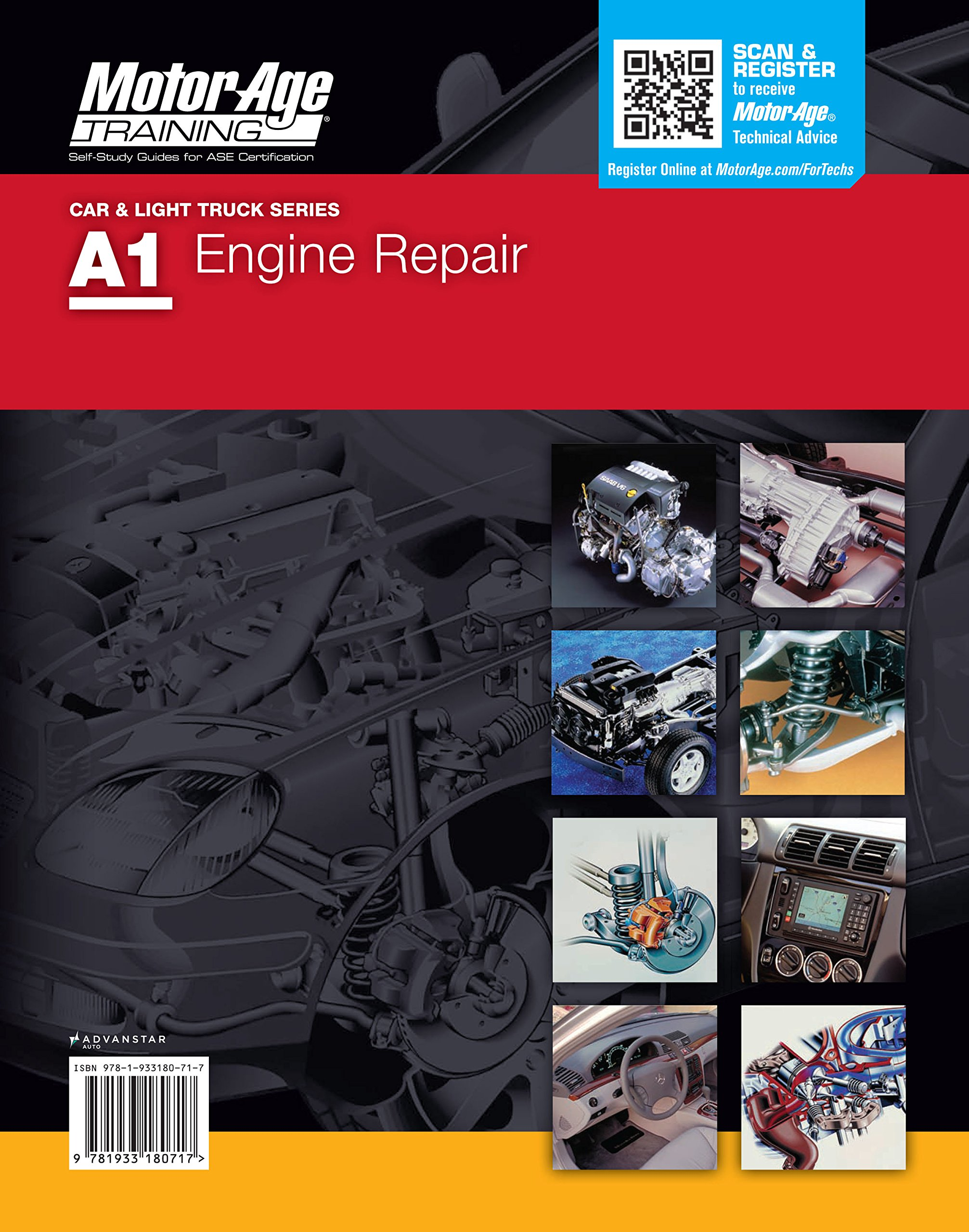 A1 automotive engine repair motor age training self study guide a1 automotive engine repair motor age training self study guide for ase certification motor age training 9781933180717 amazon books xflitez Choice Image